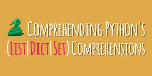 comprehending comprehensions