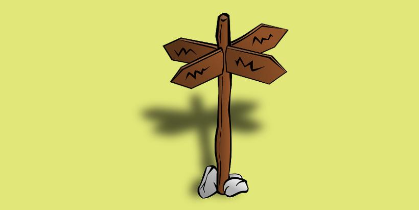 указательный столб, Дилемма путешественника