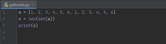 множество, Тест по множествам в Python