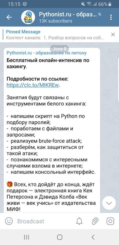 , Реклама в Pythonist