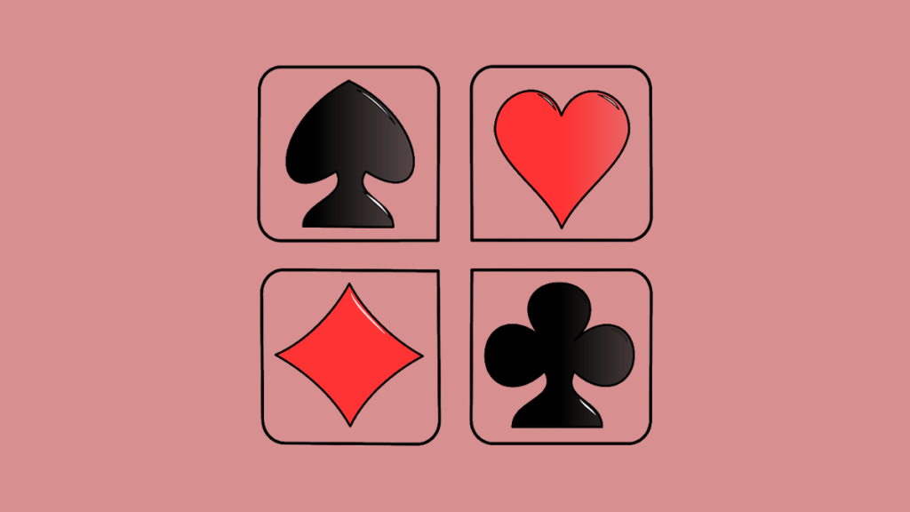 определить карты, Три игральные карты