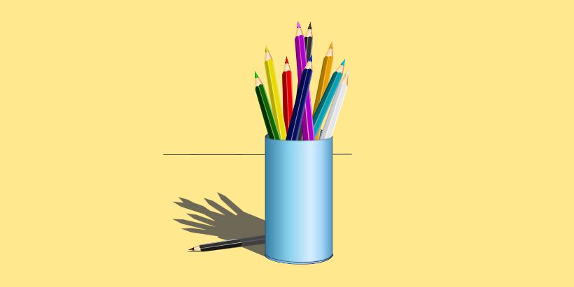 запачкается карандаш, Пачкаем карандаши