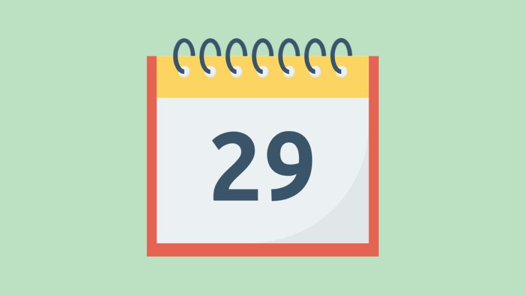 Календарь открыт на цифре 29. Отсылка к 29 февраля, которое бывает в високосный год.