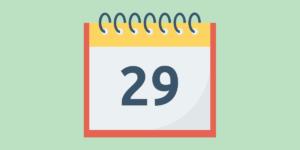 Календарь. На календаре 29-е число