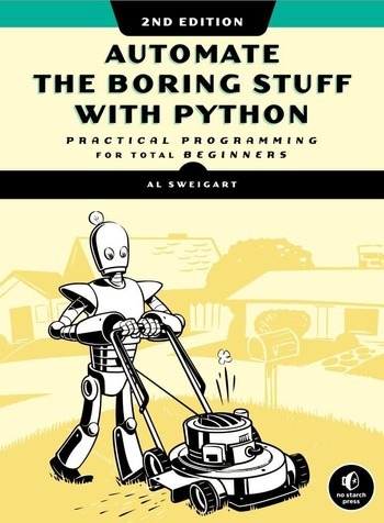 "Обложка книги ""Automate the boring stuff with Python"""