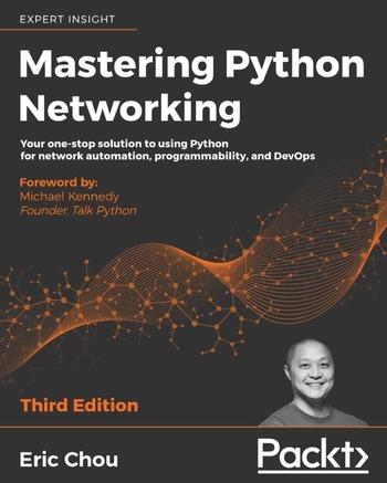 """Обложка книги """"Mastering Python networking"""""""