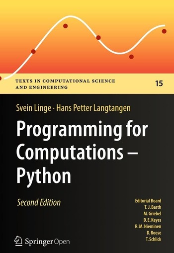 "Обложка книги ""Programming for computations – Python"""