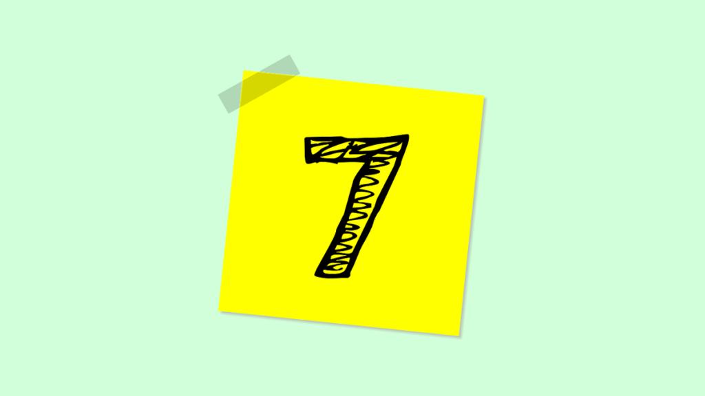 Стикер с цифрой 7.