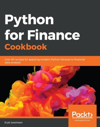 "Обложка книги ""Python for finance cookbook"""