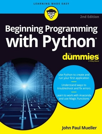 "Обложка книги ""Beginning Programming with Python"""